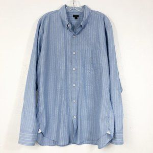! J. Crew Blue Striped Long Sleeve Button Down Top